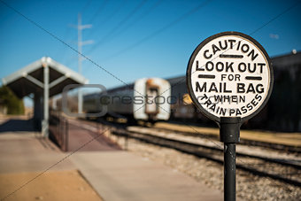 Old Railroad Caution Sign