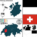 Map of Fribourg, Switzerland