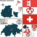 Map of Obwalden, Switzerland