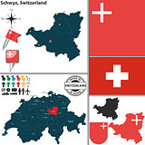 Map of Schwyz, Switzerland