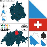 Map of Zurich, Switzerland