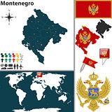 Map of Montenegro