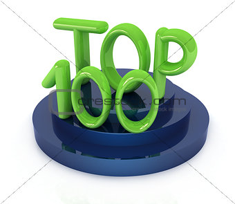Top hundred icon on white background