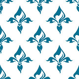 Classical French fleur-de-lis seamless pattern