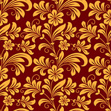 Yellow colored floral seamless pattern