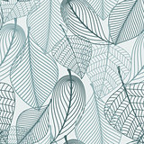 Delicate skeleton leaves seamless pattern