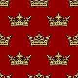 Golden crown seamless background pattern