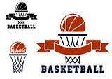 Basketball emblems and symbols
