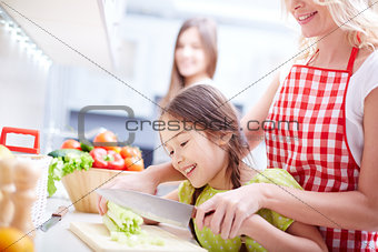 Cutting vegetables