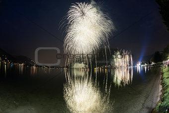 Fireworks on the Lugano Lake, Lavena-Ponte Tresa