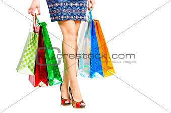 beautiful legs shopaholic and packages