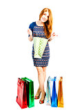 shopaholic scans your purchases in packages