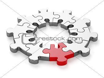 Chrome jigsaw