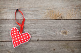 Red Valentine's day heart toy
