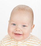 Closeup portrait of cute baby
