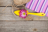 Garden tools with flower