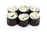 Sushi maki with cucumber