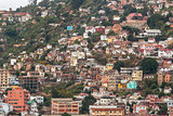 Densely packed houses on the hills of Antananarivo