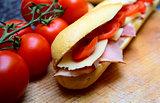 delicious baguette sandwiches