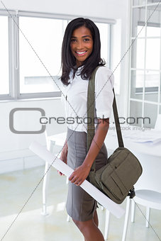 Business woman happy and smiling to camera