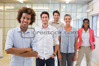 Group of workers smiling at the camera