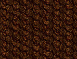 Brown curtain with pattern
