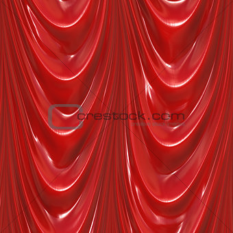 Close up view of curtains