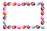 Colorful Easter eggs frame