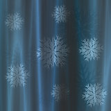 Curtain with snowflakes