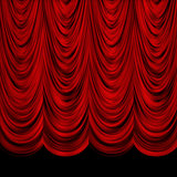 Decoretive red curtains