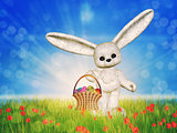 Easter toon bunny