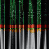 Green and grey curtain background