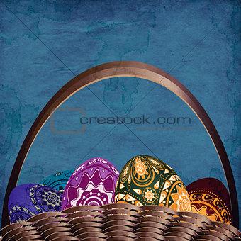 Grunge easter basket