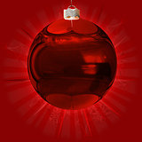Red ball background