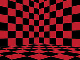 Red Checkered Room