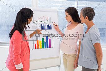 Attractive businesswoman making a presentation at work