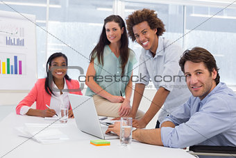 Attractive business people in the workplace