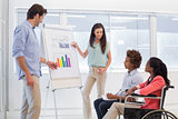 Attractive business team making presentation