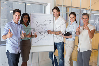Casual businessman presenting his ideas