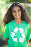 Young environmental activist smiling at the camera