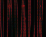 Red curtain with heart pattern