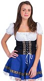 Oktoberfest girl smiling at camera