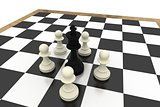 White pawns surrounding black king