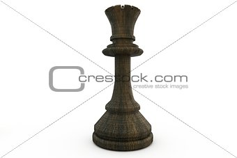 Black queen chess piece