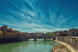 Tever river to Rome