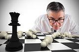 Composite image of focused businessman