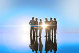 Composite image of business colleagues standing