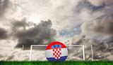 Composite image of football in croatia colours