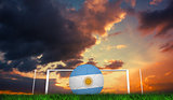 Composite image of football in argentina colours