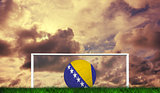 Composite image of football in bosnia and herzegovina colours